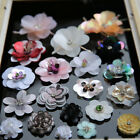 DIY embroidered Sequins Bugle beads flower decorative accessory cloth patch shoe