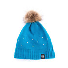 Dublin Sparkle Bobble Beanie with Sparkle Dots and Fluffy Bobble Winter Hat
