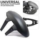 Black PVC Motorcycle Rear Wheel Cover Fender Splash Guard Mudguard Bracket Valid