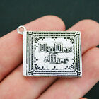 Fairy Tale Book Charm Antique Silver Tone Once Upon a Time Storybook SC4022