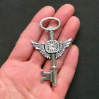 2 Huge Steampunk Key Charms Antique Silver Tone SC814