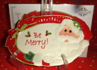 FITZ & AND FLOYD HOLIDAY CHEER BE MERRY! CHRISTMAS SANTA SENTIMENT SERVING TRAY