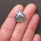 BULK 40 Starfish Charms Antique Silver Tone Ocean Themed Shell SC1345