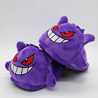 Pokemon Gengar Plush Slippers unisex Soft Warm Indoor Shoes Cute Gifts