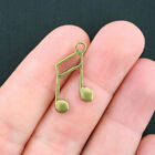 10 Music Note Charms Antique Bronze Tone BC994