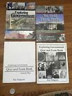 Lot of 4 Ray Notgrass Exploring Government Textbook Quiz Exam Book Paperback