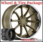 20 BLAQUE DIAMOND BD23 CONCAVE BRONZE WHEELSTIRES FITS F07 BMW 528i 535i 550i
