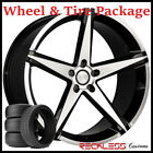 22 CONCEPT ONE CSM02 CONCAVE BLACK WHEELS AND TIRES FITS BENTLEY CONTINENTAL GT