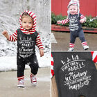 Christnas Newborn Baby Girl Boy Striped Long Sleeve Romper Outfits Harem Clothes