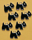 5 Scottie Dog Charms Charms Enamel with CZ Eye E031