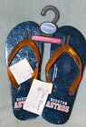 Houston Astros Womens Glitter Thong Flip flop Sandal Size Small 5 6