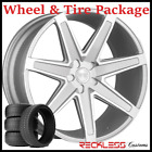 22 CONCEPT ONE CSM03 CONCAVE SILVER WHEELS AND TIRES FITS INFINITI QX50 QX60