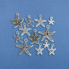 Starfish Charm Collection Antique Silver Tone 10 Charms COL255