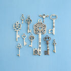 Key Charm Collection Antique Silver Tone 11 Different Charms COL011
