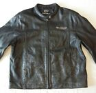 Star Motorcycles Leather XL Jacket Black With Ghost Flames Yamaha Cafe Racer