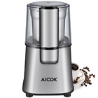 Aicok Electric Coffee Grinder Fast and Fine Fineness Coffee Blade Grinder with R