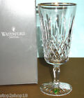 Waterford Lismore Tall Gold Iced Beverage Crystal Glass #6133182901 New Boxed