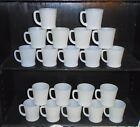 20 Vintage White Fire King D Handle Coffee Mugs Cups
