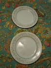 Noritake China SAVANNAH PLATINUM RIM Set of 2 Salad Plates Excellent Condition!!