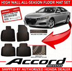 Genuine OEM Honda Accord SEDAN Black High Wall All Season FloorMat Set 2018 2019