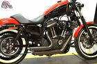 Black Staggered Shortshots Short Shots Exhaust Drag Pipes Harley Sportster 14+