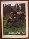 Vintage 1973 Original Print Ad LEE Motorcycle Rider JEANS  JACKETS Country