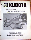 KUBOTA Model L-590 Rotary Mower Operator & Parts MANUAL                 Lot #475