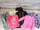Lot of 6 pieces toddler girls 2T tops and bottoms winter fall