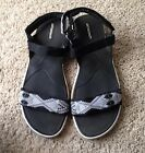 Womens Or Juniors Sz 7 Athletech Water Sport Sandals Black And White Print
