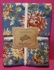 APRIL CORNELL 60 x 120 DENIM BLUE CHRYSANTHEMUM FLORAL TABLECLOTH NEW IN PACKAGE