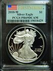 2010 W FIRST STRIKE AMERICAN SILVER EAGLEPCGSPR 69 DCAMAO