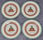 SET OF FOUR Villeroy & Boch Festive Memories Winter Treats PEAR SPONGE Plates