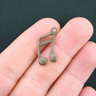 10 Music Notes Charms Antique Copper Tone BC995