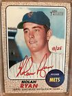 2017 TOPPS HERITAGE REAL ONE RED INK AUTOGRAPH NOLAN RYAN #18 25 Mets