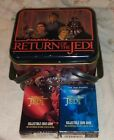 COLLECTIBLE STAR WARS TIN BOX WITH 2 DECKS OF CARD GAME LOOK !!