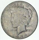 Early 1924 S Peace Silver Dollar 90 US Coin 098