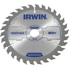 Irwin ATB Construction Circular Saw Blade 150mm 30T 20mm