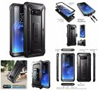 Front And Back Phone Case Fully Totatable Belt Clip For Samsung Galaxy S8+ Plus