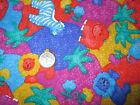 ADORABLE Vintage BOLD AND BRIGHT WILD ANIMALS 1990s COTTON Fabric shy 3 yd