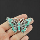 Butterfly Pendant Charm Antique Silver Tone Large Size SC6472