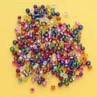 600 Glass Beads Silver Lined Seed Bead Mix 3mm x 35mm Multi Colors 41g BD138