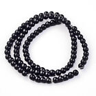 98 Black Glass Beads 4mm x 3mm Full Strand Almost 12 Inches BD288