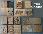 Large Background Rubber Stamps You Choose Tools Thanks Pine Trees Music+