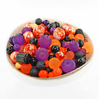 Glass Bead Mix Assorted 25 Halloween Color Combination 6mm to 12mm BMX023