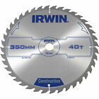 Irwin ATB Construction Circular Saw Blade 350mm 40T 30mm