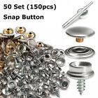 STAINLESS STEEL BOAT COVER CANVAS SNAP FASTENER REPAIR KIT 150 PIECE SL MARINE