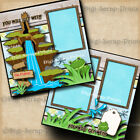 DISNEY SPLASH MOUNTAIN RIDE 2 premade scrapbook pages layout printed DIGISCRAP