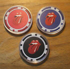 3 Rolling Stones Poker Chips Sample Set Casino Quality Card Guard Cover Set