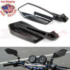 BLACK CUSTOM REARVIEW SIDE MIRRORS FOR HONDA YAMAHA MOTORCYCLE CRUISER CHOPPERS