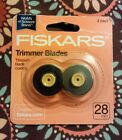 Fiskars Trimmer Blades 28mm Rotary Paper Refill Replacement Style F 2 Pack NEW